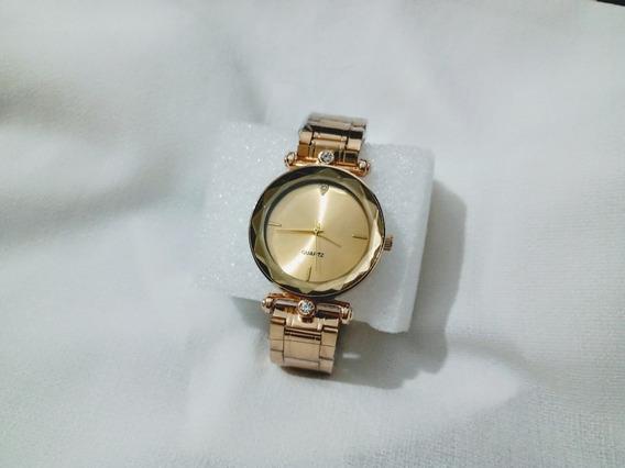 Relógio Feminino De Luxo + Bateria Brinde