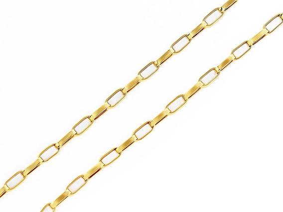 Corrente Cordão Alongado 60cm Masculino Ouro 18k