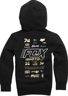 Campera Niño Hoody Negra Motocross Fox Head Juri Atv