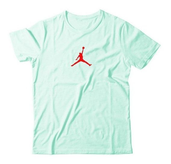 Camiseta Blusa Masculina Jordan Air Vermelho Basquete Tumblr