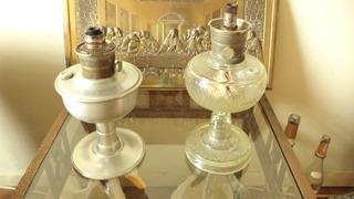Lampião Aladim Sendo 1 Aluminio E 1 Vidro R$ 245,00