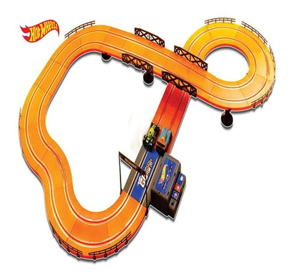 Autorama Hot Wheels Slot Car Track Set Turbo Multikids 380cm