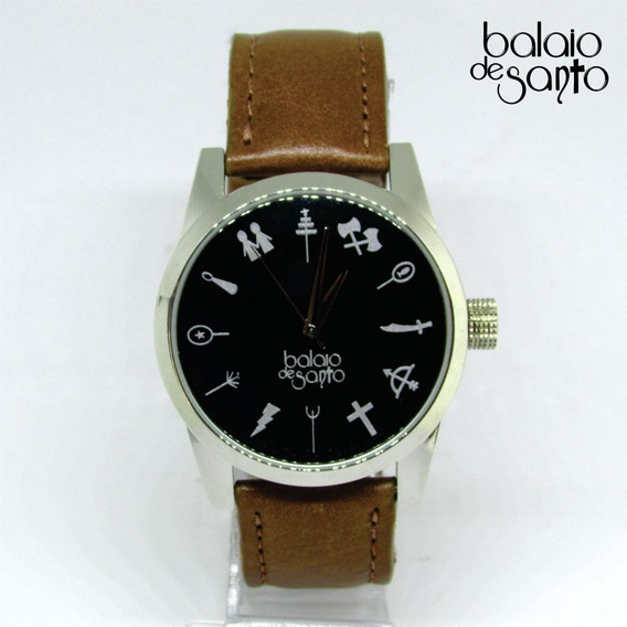 Relógio Dos Orixás Masculino Preta / Marrom Claro