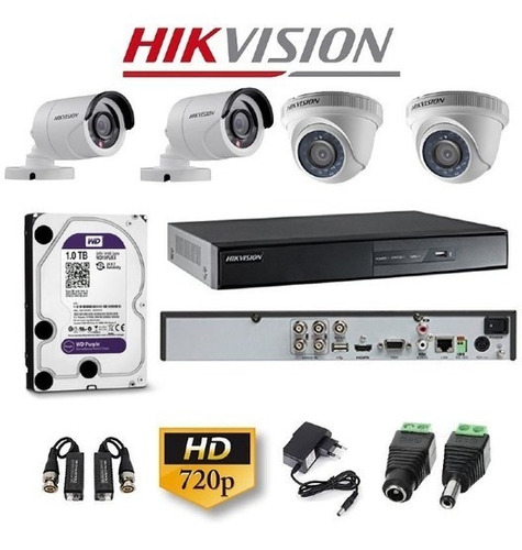 Kit De Seguridad Video Vigilancia Hikvision Mejor Calidad !!