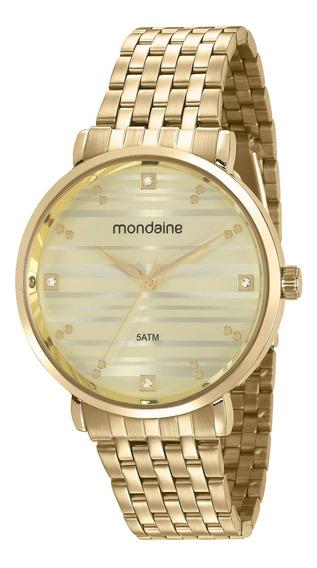 Relógio Mondaine Feminino Dourado 53651lpmvde1 Nfe