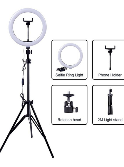 Iluminador Led Ring Light Maquiagem Make Fotos Selfie 31cm