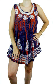 Lindo Mini Vestido De Viscose Estampado E Bordado (500)