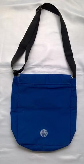 Bolso Bandolero Kio Liviano Azul Francia Con Cierre Y Abrojo