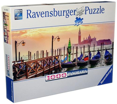 Imagen 1 de 3 de Puzzle 1000 Gondolas En Venecia  Ravensburger 150823