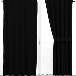 Cortinas Blackout Textil Con Presillas Ocultas Juego 2 Paños