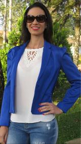 Blazer Alfaiataria Azul Royal Presage