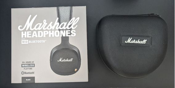 Fone Bluetooth Marshall Mid + Case Marshall Transporte