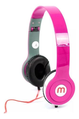 Imagem 1 de 3 de Fone de ouvido on-ear sem fio Altomex A-567 rosa