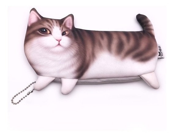 Estojo Kawaii Gato Gatinho Impressão 3d Importado 1 Unidade
