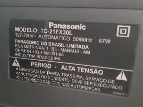 Tv Panasonic 21 Polegadas De Tela Plana Com Conversor Digita