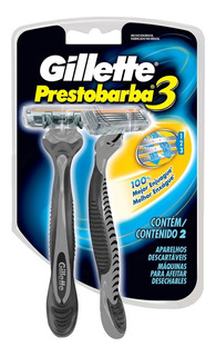 Rastrillos Desechables Gillette Prestobarba3 2 Pzas