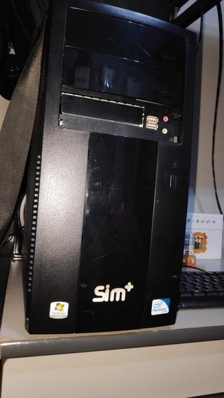 Computador Sim+ L3052 - Com Leitor E Gravador De Cd E Dvd