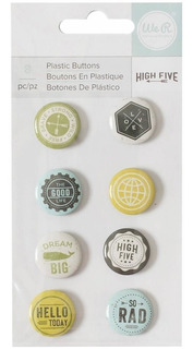 8 Pins Decorativos American Crafts Coleccion High Five