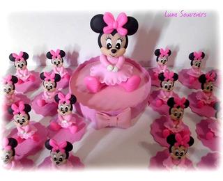 Minnie Bebe Souvenirs En Porcelana