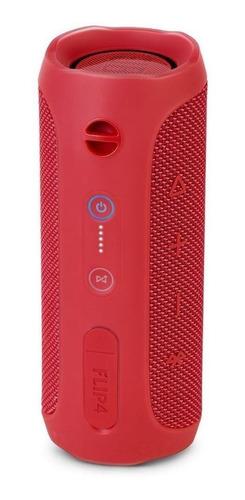 Caixa de som JBL Flip 4 portátil com bluetooth  red