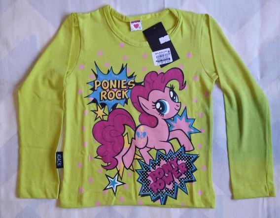 Remera Nena Con Estampado Pequeño Pony - Talles 2 A 12