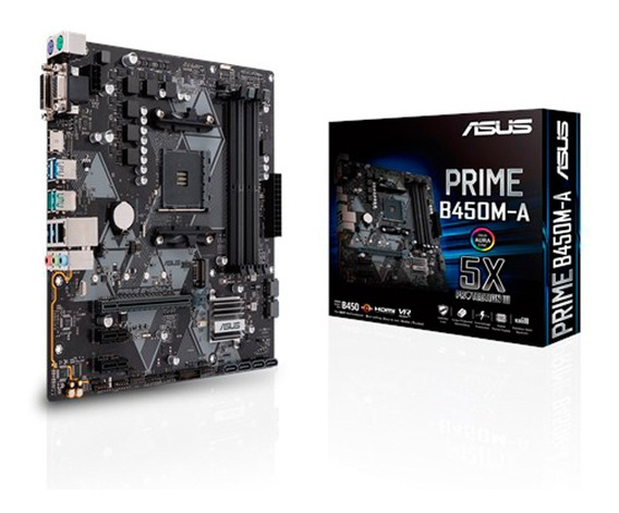 Motherboard Asus Prime B450m-a Am4 Ddr4 Hdmi B450 Mexx