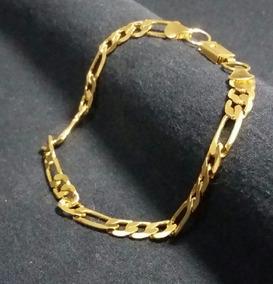Pulseira Bracelete Banhada A Ouro 18k Cartier 23cm, 6mm.