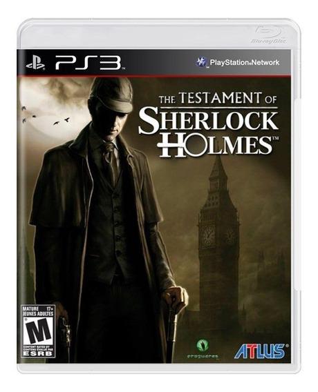 Jogo The Testament Of Sherlock Holmes Lacrado Para Ps3