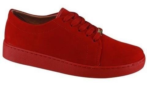Tênis Feminino Vizzano Casual Nobuck Color Vermelho 1214205