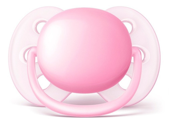 Chupeta Avent Ultra Soft Rosa Single 0-6 Meses Esterilizável
