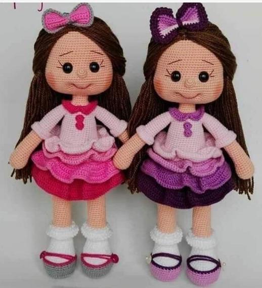 5 apaixonantes modelos de bonecas de amigurumi - Viver de Artesanato | 568x518