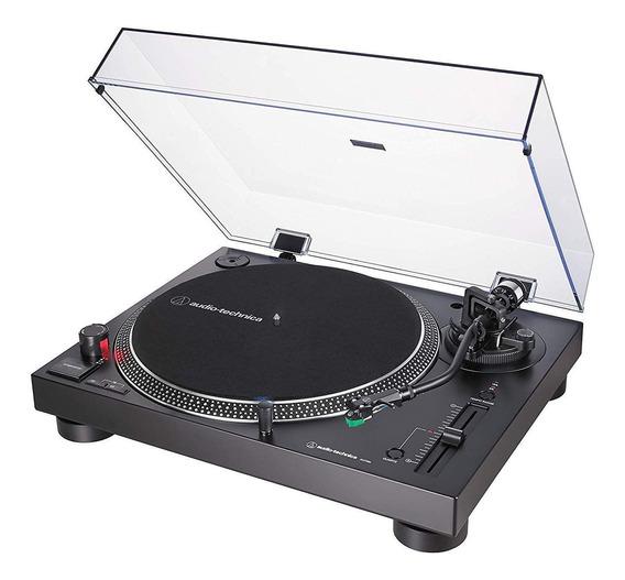 Toca Discos Audio Technica Lp120x Usb Analógico 120v Preto At-lp120xusb-bk