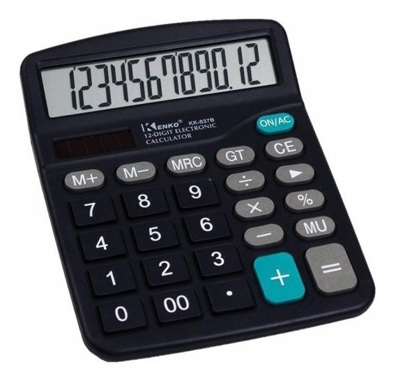 Calculadora De Escritorio Kenko 12 Digitos Grandes X 6 Unida