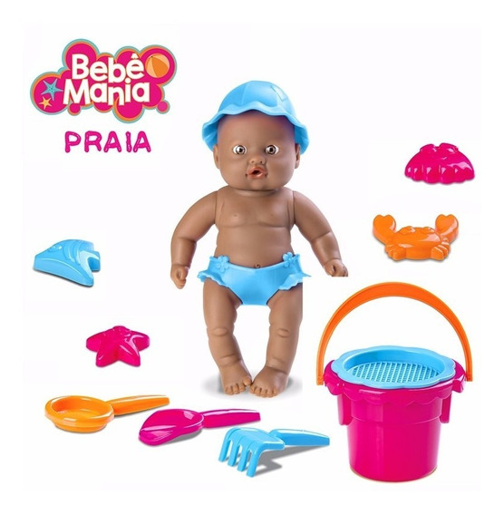 Boneca Bebe Mania Praia Negra Roma