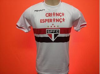 Camisa São Paulo Branca 2014 Criança Esperança Osvaldo # 17
