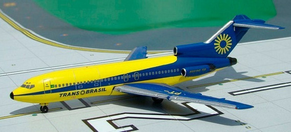 Boeing 727 Transbrasil - Aeroclassics 1/400 - Pt-tys - Raro