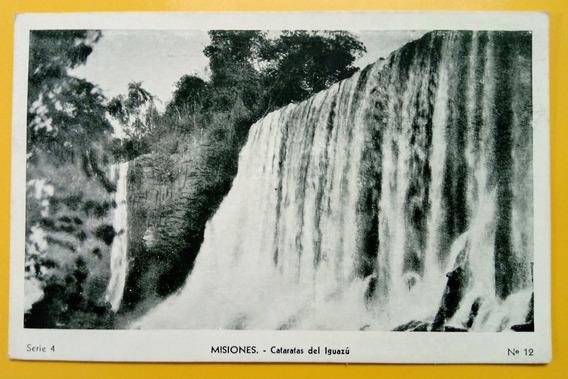 Tarjeta Postal Cataratas Del Iguazú (peuser)