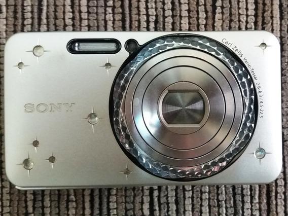 Camera Digital Sony Lente Carl Zeiss, Caixa E Todos Manuais