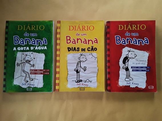 Lote 3 Livros Diário De Um Banana Vols. 1 3 4 - Seminovos