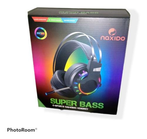 Imagen 1 de 1 de Auricular Con Micrófono Gamer Rgb Naxido