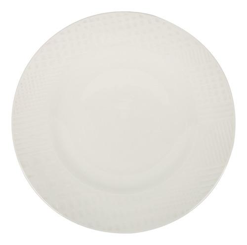 Plato Llano Ceramica 26 Cm Con Ala Goldsky