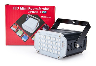Flash 24 Led Audioritmico Strobe Blanco Dj Fiestas Boliche F