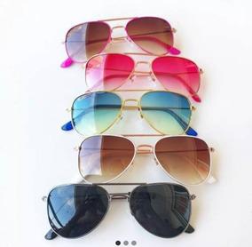 ae3fce118 Óculos De Sol Aviador Infantil Espelhado E Colorido - Óculos no ...