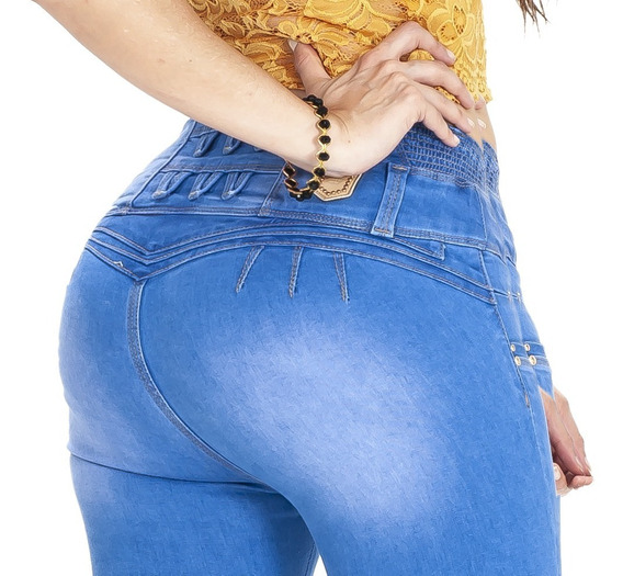 10 Jeans Levanta Pompa Push Up Colombiano Tiro Alto Paquete1