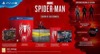 Juego Ps4 Marvel Spiderman Edición Coleccionista