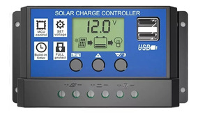 Controlador De Carga Solar 12v 24v Pwm 10a Dual Usb
