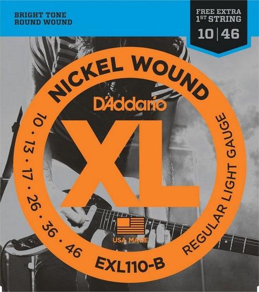 Encordoamento Daddario 010 Guitarra Exl110 B +1a Corda Extra