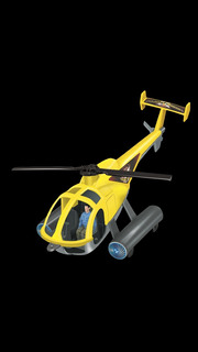 Brinquedo Helicóptero Apolo Com Boneco Piloto Articulado