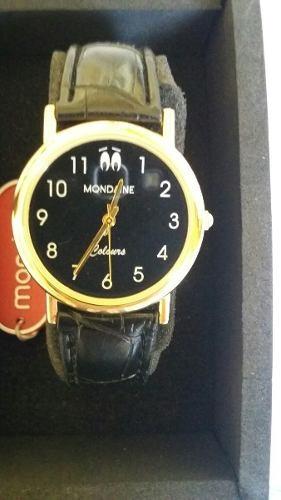 Relógio Masculino Mondaine 99182gpmvda1 44 Mm Aço Dourada