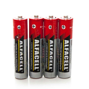 4 Pilhas Aa Alcalina Alfacell Voltagem 1,5 R6p